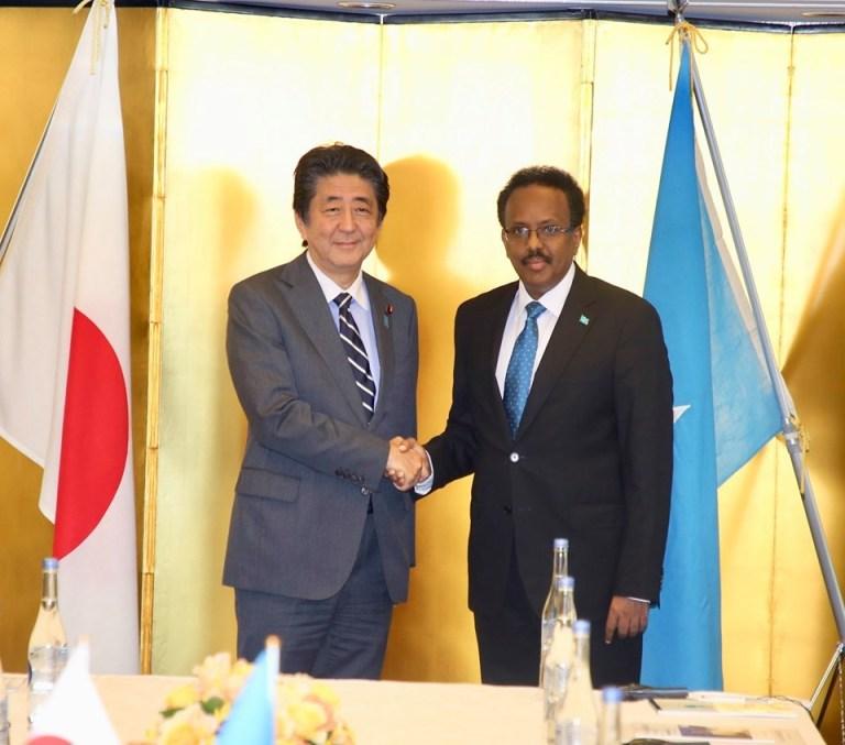 Ra'isul Wasaaraha Japan Oo Balan Qaad U Sameeyay Madaxwaynaha Somalia.(Sawiro)