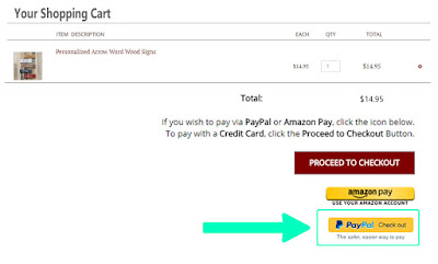 Paypal Express Checkout Starts at Your Shopping Cart