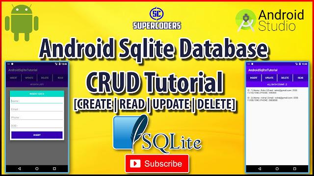 Android SQLite Crud Tutorial | [ CREATE | READ | UPDATE | DELETE ]