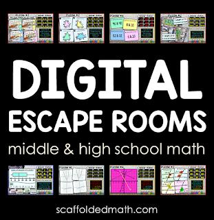 Digital Math Escape Rooms