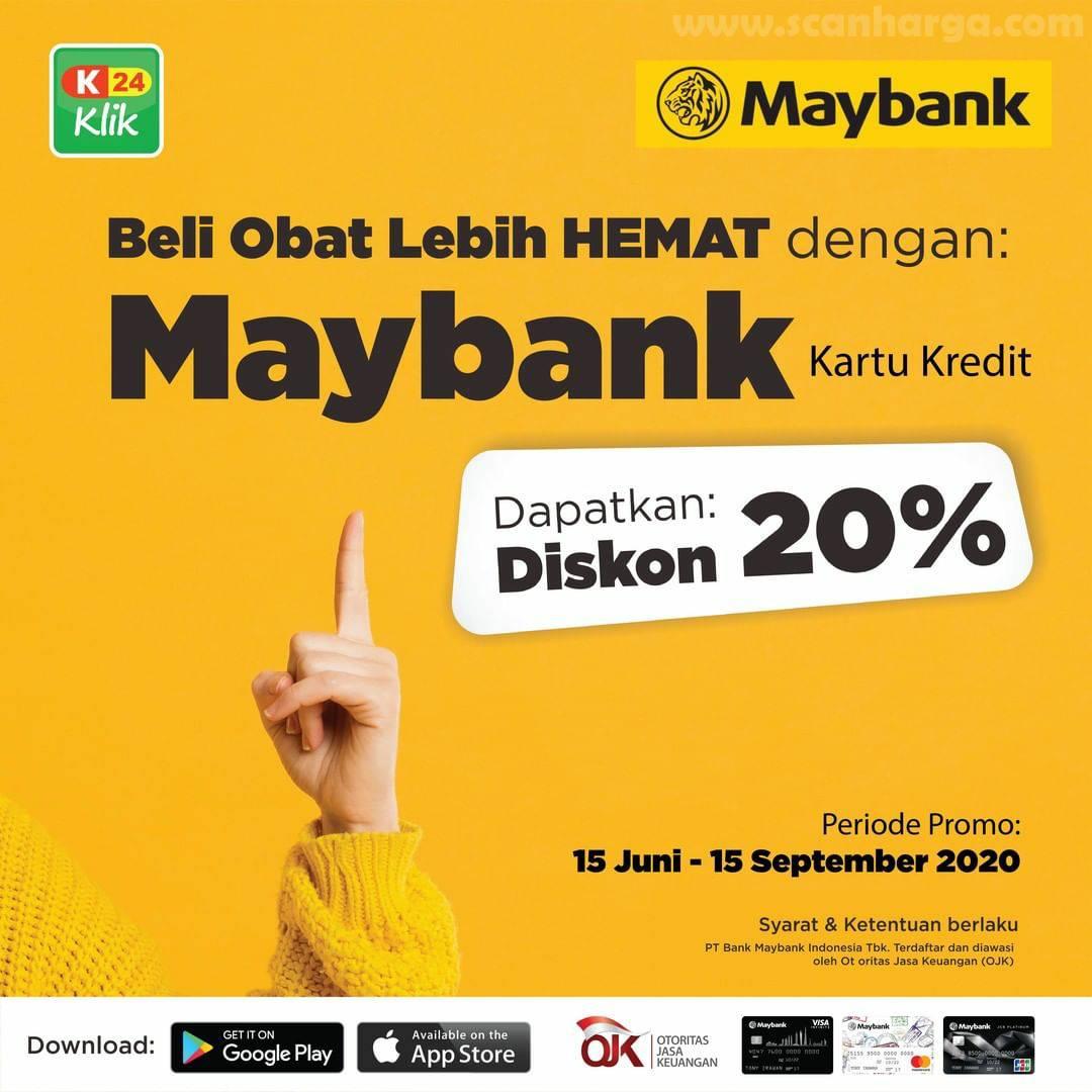 Promo Apotek K24 Diskon 20% - Beli Obat Lebih Hemat Dengan Kartu Kredit Maybank