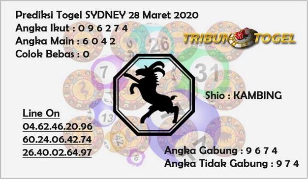 Prediksi Togel Sidney Sabtu 28 Maret 2020 - Prediksi Tribun Togel