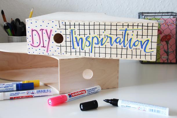 binedoro Blog, DIY, Stehsammler mit Markern bemalen, Ordnung halten