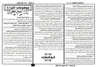 تحميل مراجعة ليلة الامتحان في اللغه العربيه للصف الثاني الثانوي الترم الاول ,الاستاذ عبد القوي عبد العال