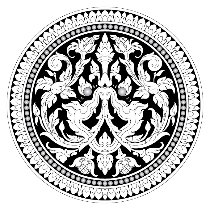 Khmer Ornament Khmer Circle Free Vector file