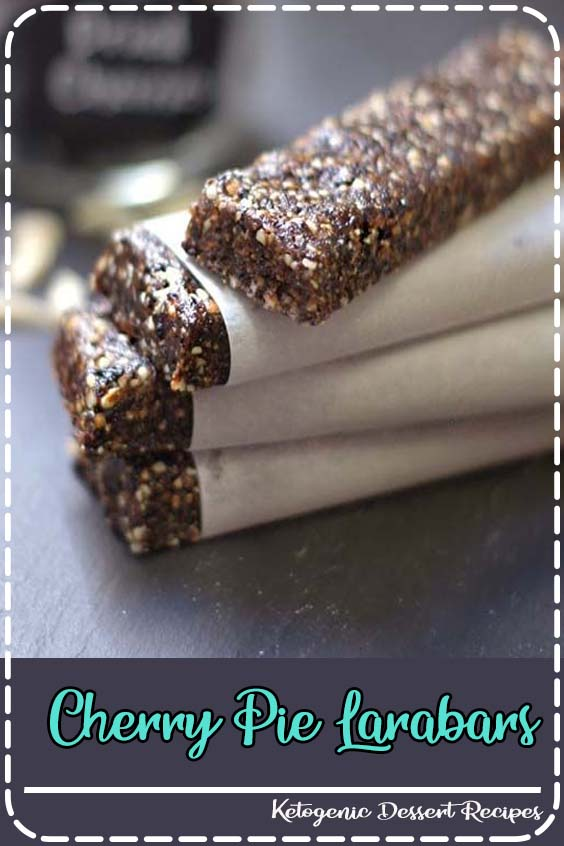 A quick and easy snack kafe made with only  Cherry Pie Larabars