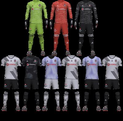 PES 2020 Beşiktaş 19-20 Kit Set by tekask1903