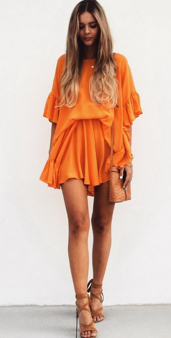 7 Most Beautiful Orange Dresses Ever\