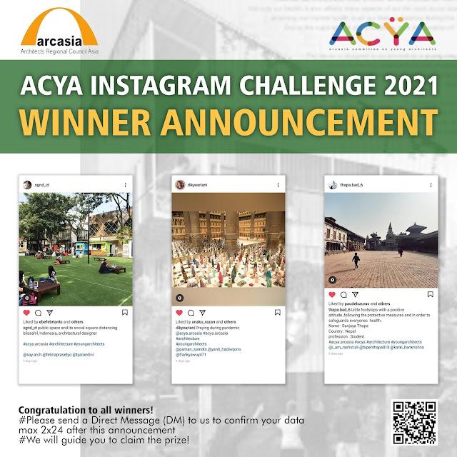 ANNOUNCEMENT ACYA INSTAGRAM CHALLENGE 2021