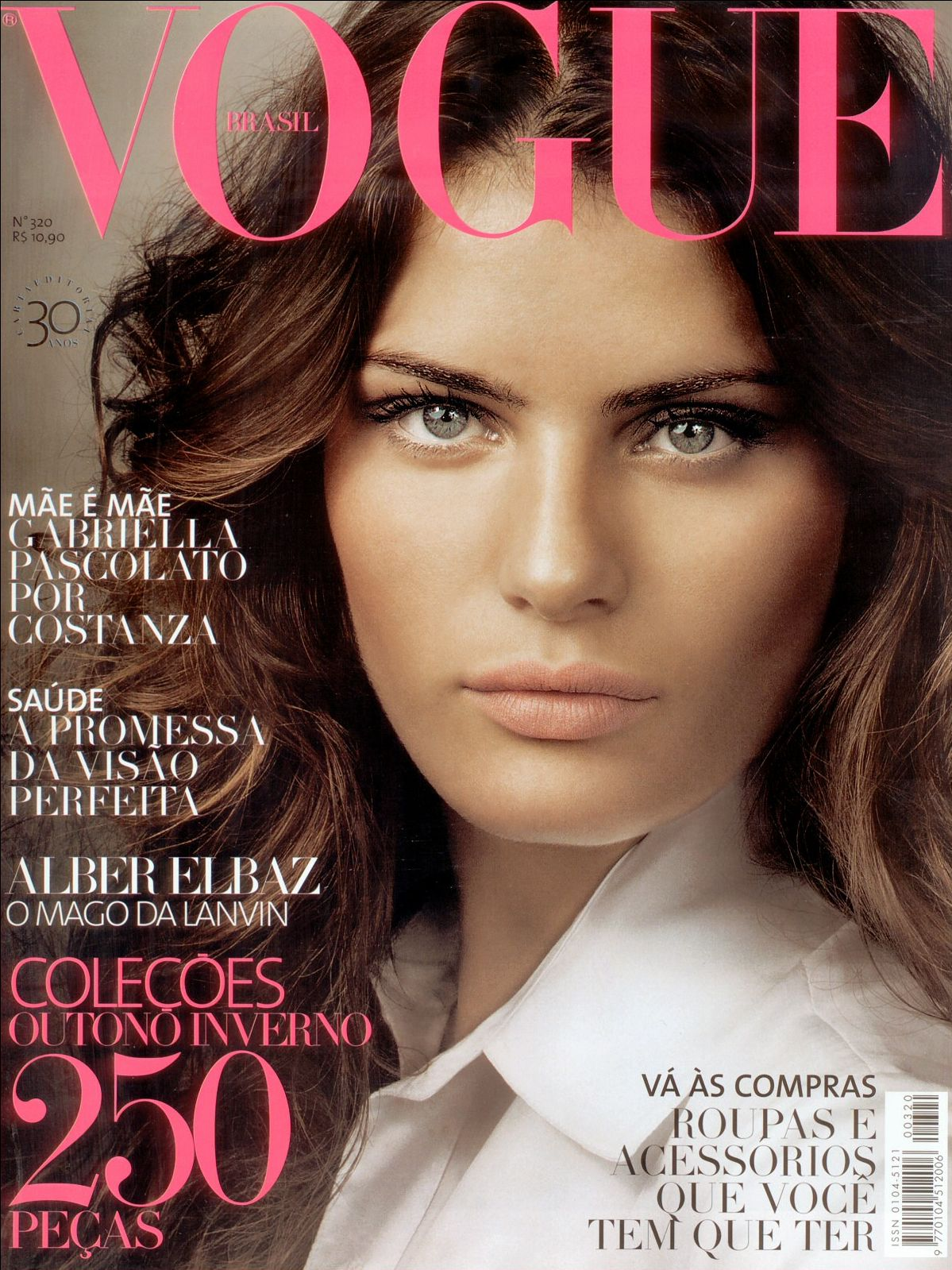 fontana isabeli vogue 2005 brazil covers march magazines paris april throughout years 2004 october voguegraphy testino mario july june