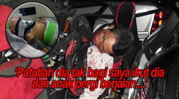 Suami Bawa Anak Naik Kereta Sengaja Bagi Kemalangan, Polis Bagi Tahu Puncanya Buat Aku Menangis ...