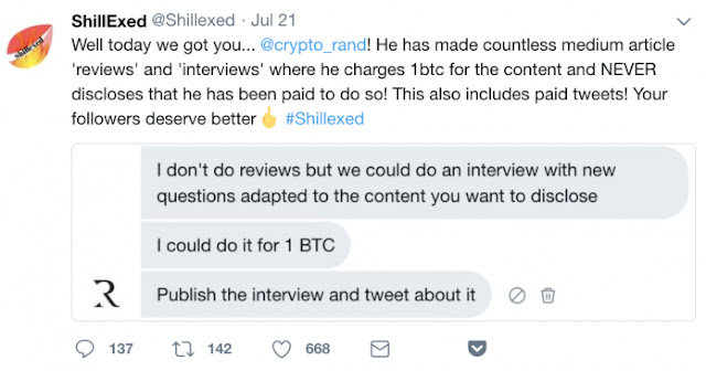 Cryptocurrency news on crypto shillers and scammers