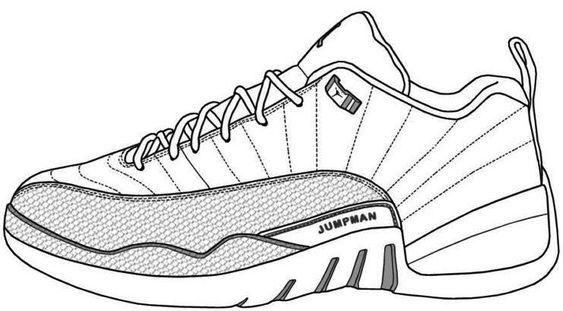 Hình tô màu giày thể thao đẹp
