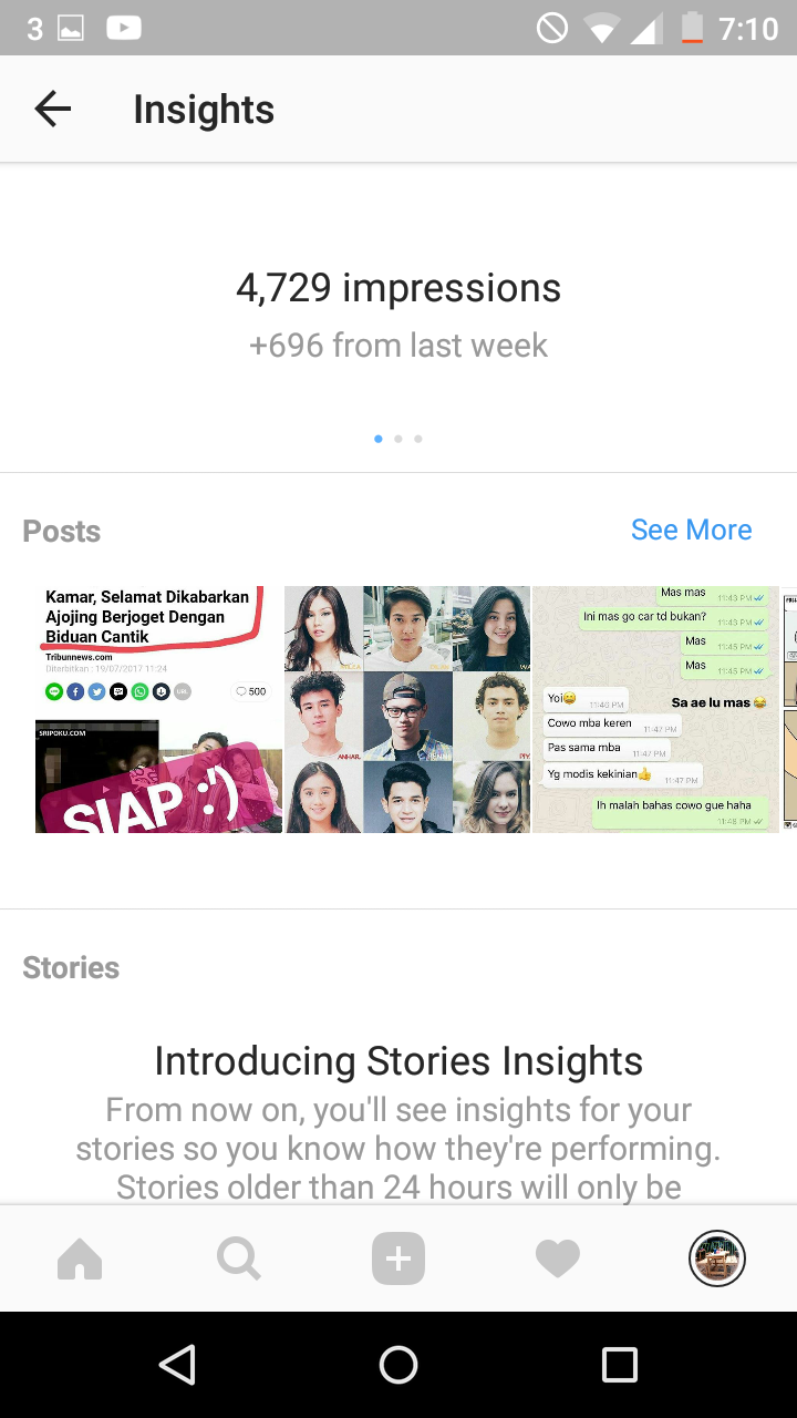 cara melihat statistik akun instagram