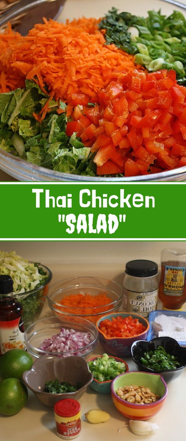 Thаі Chісkеn Salad #Thаі #Chісkеn #Salad Healthy Recipes For Weight Loss, Healthy Recipes Easy, Healthy Recipes Dinner, Healthy Recipes Best, Healthy Recipes On A Budget, Healthy Recipes Clean,