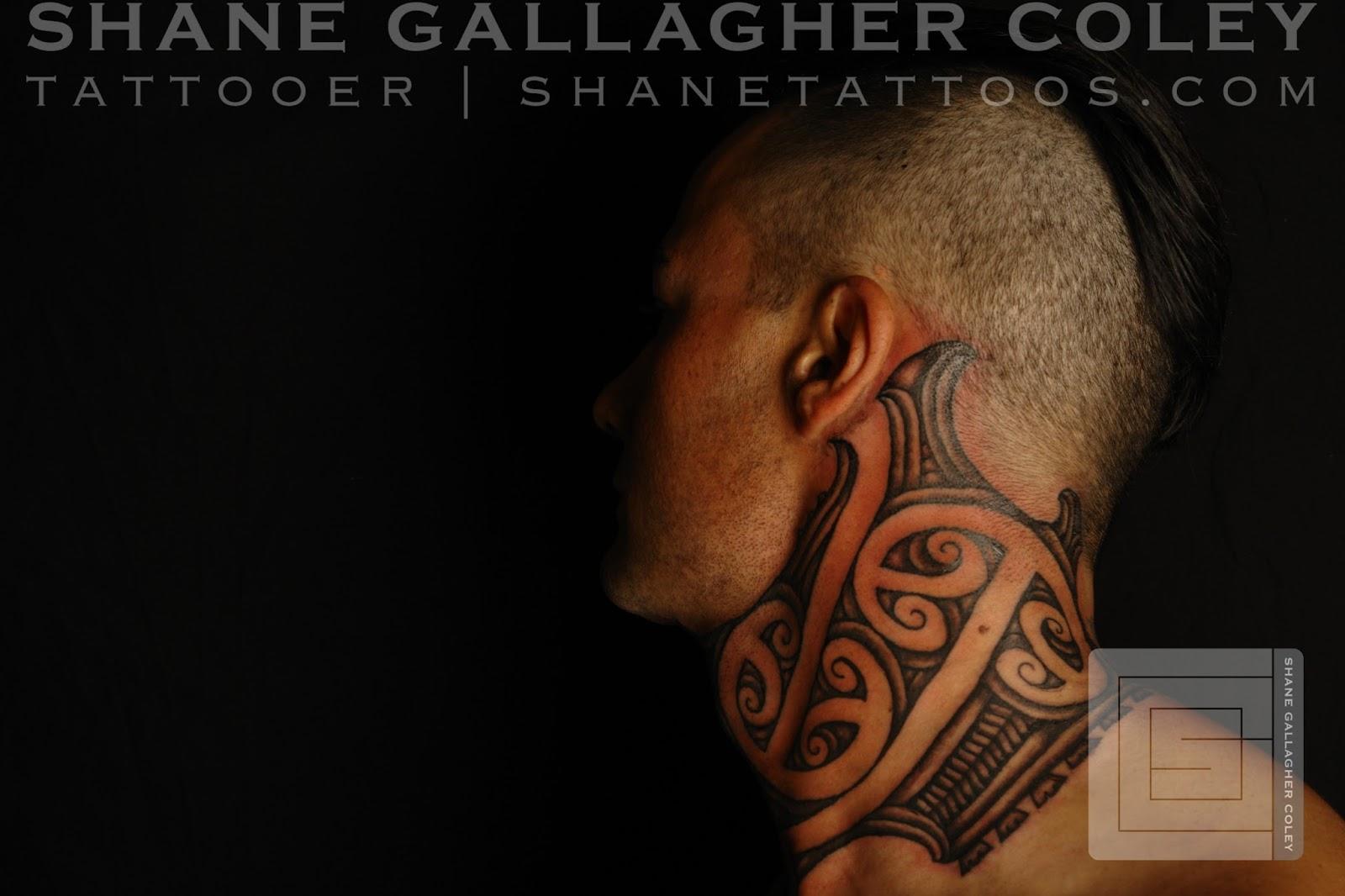 MAORI POLYNESIAN TATTOO: Maori Neck Tattoo/Ta Moko