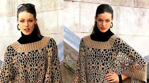 Poncho Crochet Calado / Patrones