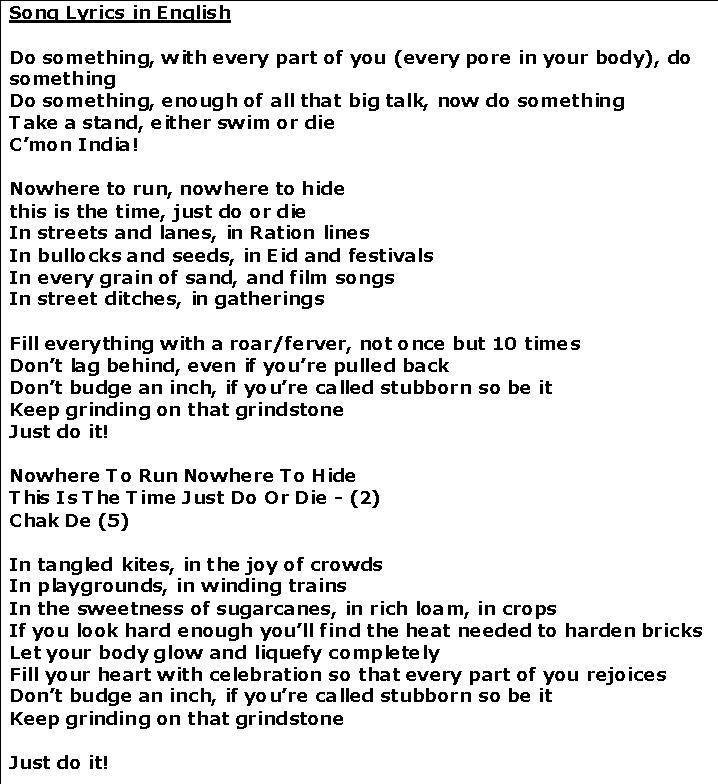 hard english songs