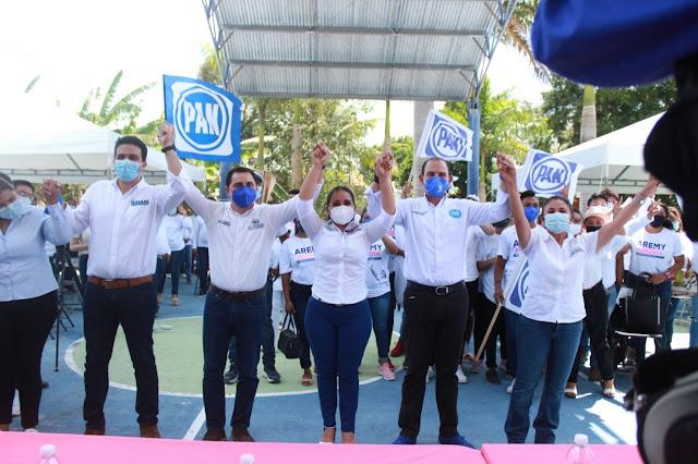 Todo el respaldo del PAN a Aremy Mendoza para la presidencia municipal de Motul