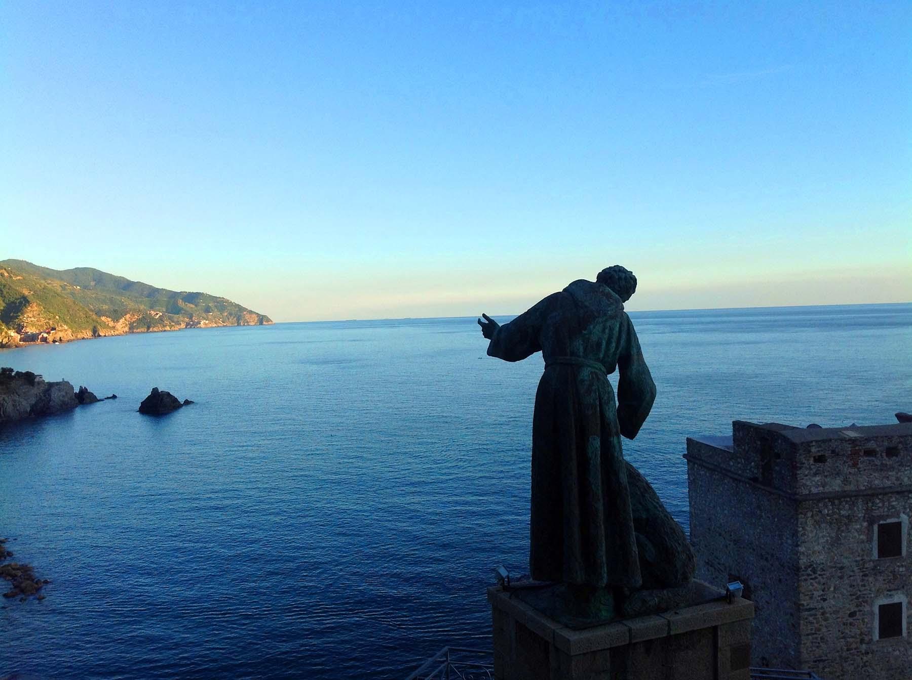 Estátua de São Francisco de Assis, Monterosso, Cinque Terre