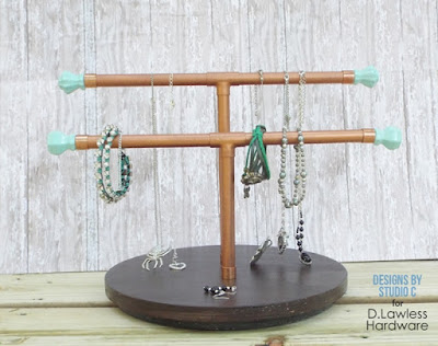spinning DIY jewelry stand
