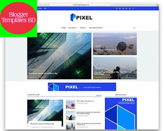 Pixel Blogger Template Free Download |
