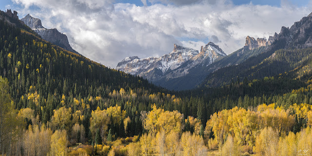 Fall Colors and Precipice Peak in the Cimarron Mountains of the Uncompahgre National Forest, Colorado