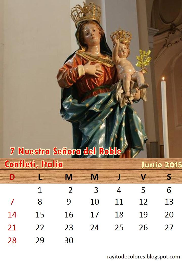 Compartiendo por amor: Calendario Mariano 2015