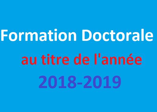 Concours doctorat 2018-2019