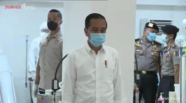 Ini Kali Pertama Jokowi Tampil di Depan Publik Mengenakan masker