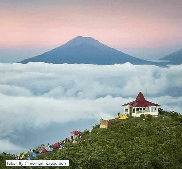 Wisata alam Gunung Andong magelang hits