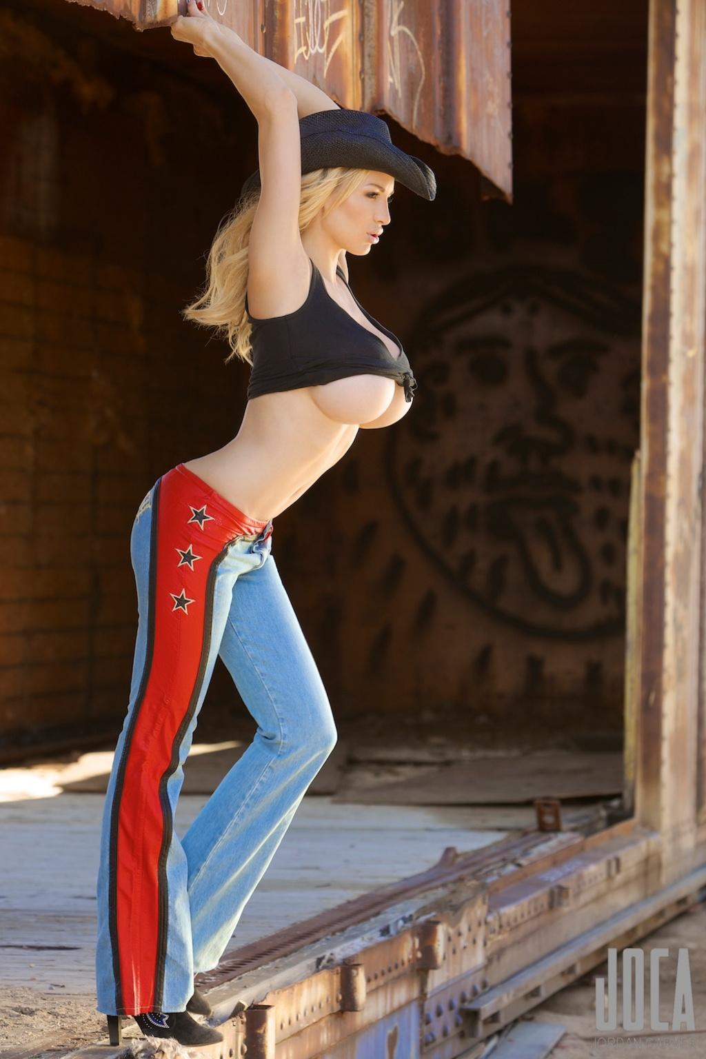 Jordan Carver - The Cow Girl - BIG BOOBS JORDAN CARVER