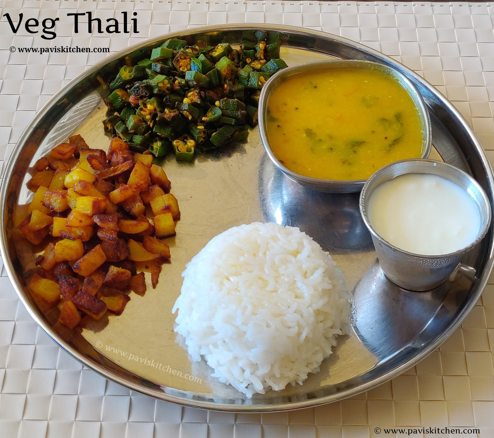 South Indian thali | Satvik thali recipe | Lunch thali recipes | Indian veg thali