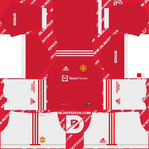 Manchester United Kits 2021-2022 Adidas for Dream League Soccer 2019 (Home)