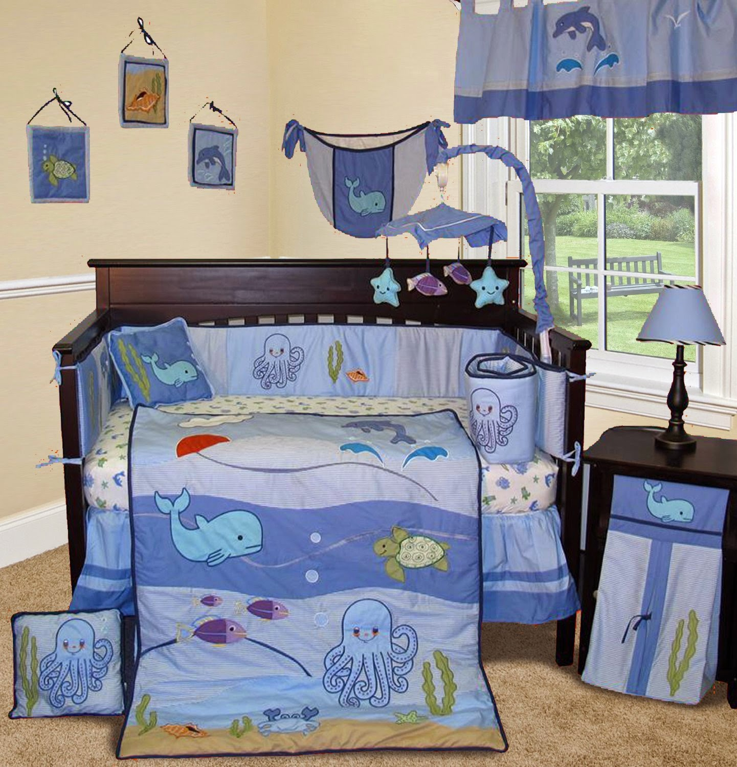 The right on mom vegan mom blog baby room decorating for Under the sea bedroom designs
