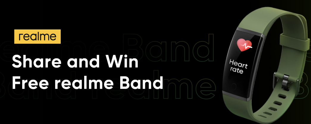 Realme Offer: Share Context & Win Realme Band, Buds, PowerBank