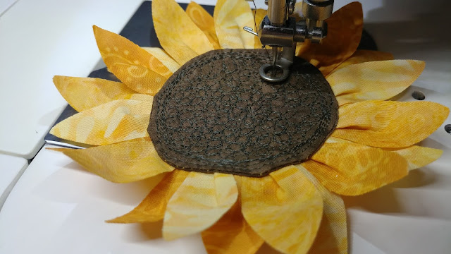 Fabric sunflowers