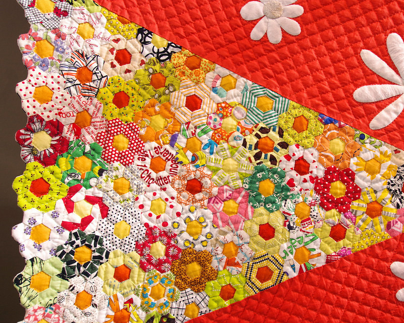 Tokyo International Quilt Festival | Asterisk/Hexagon Quilt | © Red Pepper Quilts 2018