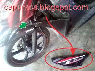 Ganti per shock breaker depan Mio GT tanpa melepas roda