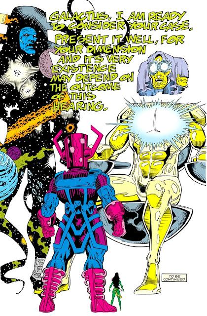 Eternidad, El Tribunal Viviente y Galactus