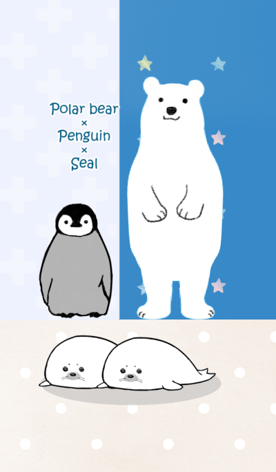 Polar bear & penguin & seal