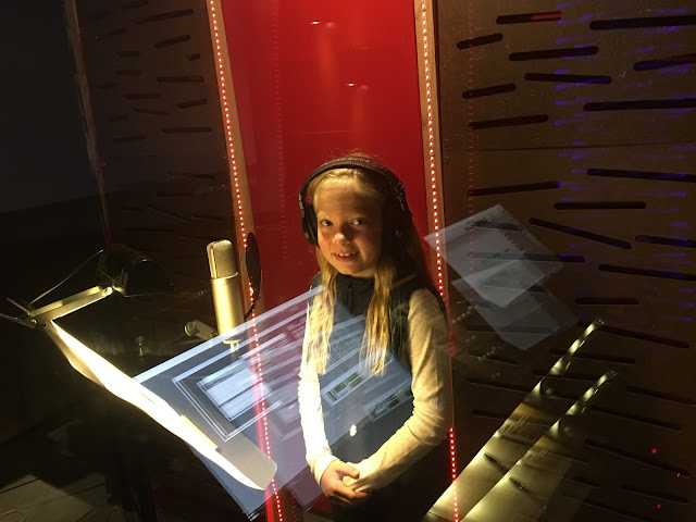8 year old girl voice recording artist