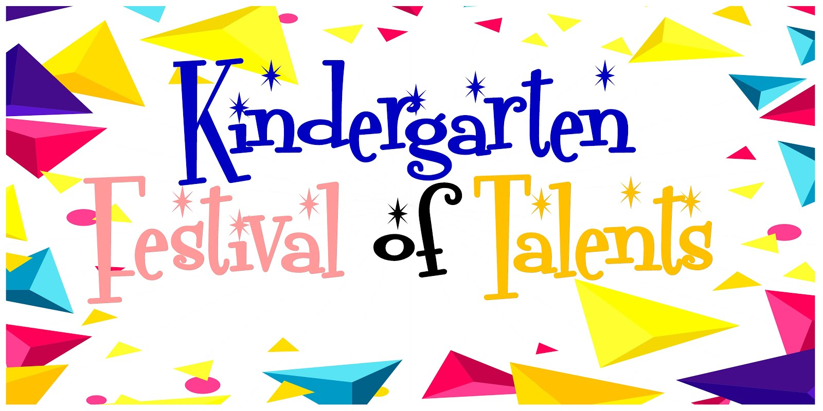 Kindergarten Festival Backdrop