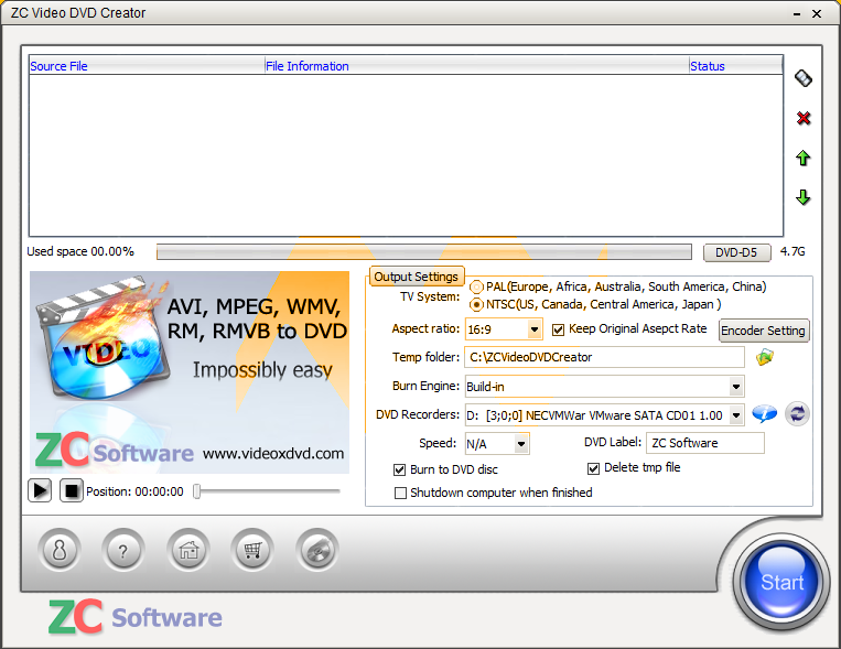 ZC Video DVD Creator 6