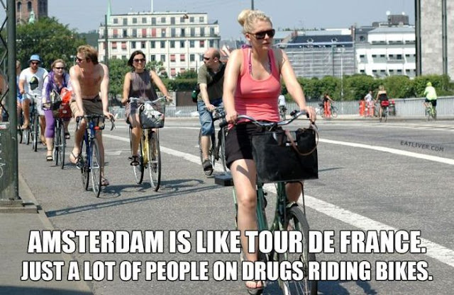 Amsterdam Is Like Tour De France, Just A Lot Of People On