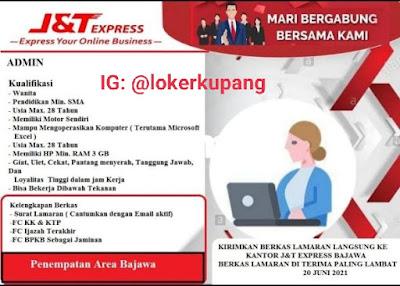 Lowongan Kerja J&T Express Area Bajawa Sebagai Admin