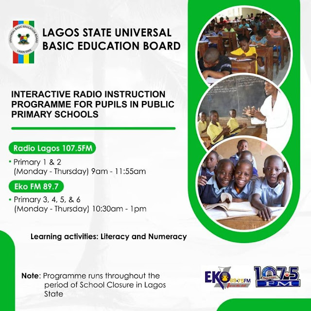 Lagos State Public Primary Schools Daily Lesson Programme | FM Radio