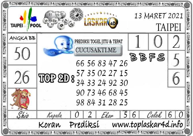 Prediksi Togel TAIPEI LASKAR4D 13 MARET 2021