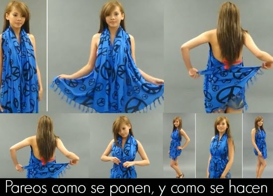 pareos, foulards, vestidos, bricomoda, diys, labores