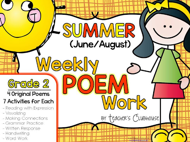 //www.teacherspayteachers.com/Product/Poem-of-the-Week-Weekly-Poem-Work-Summer-Edition-1868300